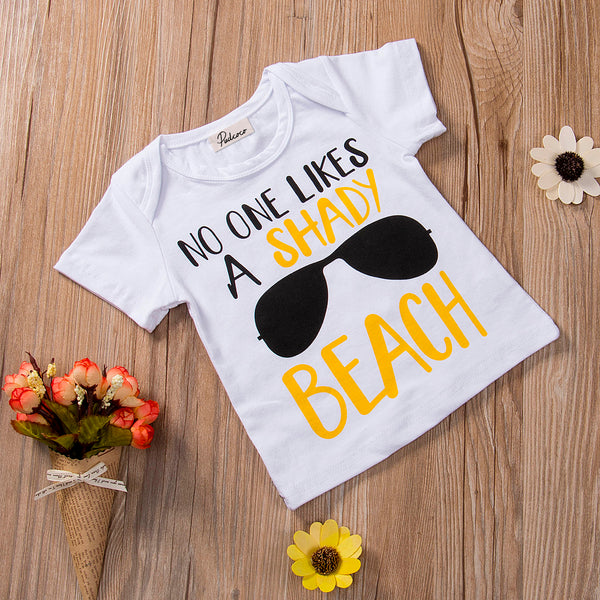 Baby Toddler Boy Casual Cool T-shirt Shorts Outfit Set