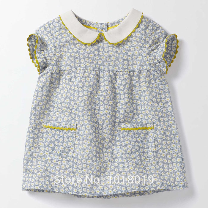 Baby Toddler Girl Cute Daisy Vintage Style Dress