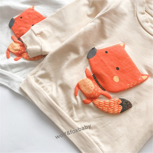 newborn Baby Boy Lovely Fox Top Pants Outfit Set