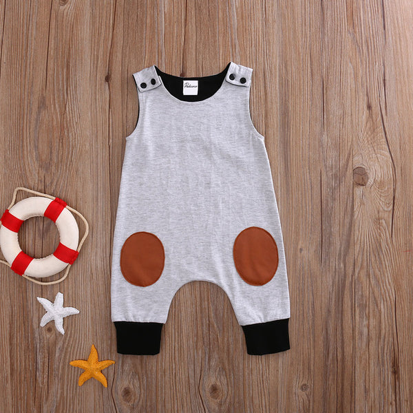 Newborn Baby Boy Cool Gray Romper