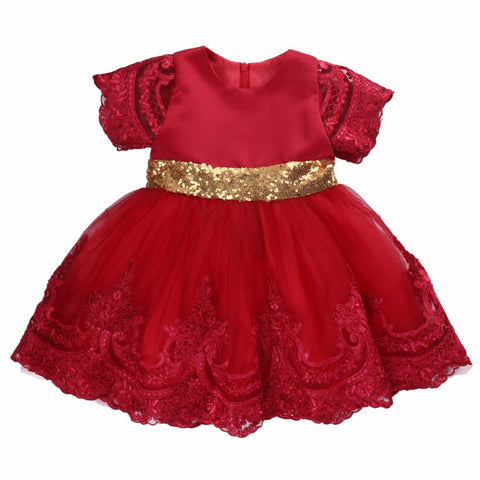 Newborn Baby Toddler Girl Wedding Birthday Party Christmas Princes Ball Gown Dress