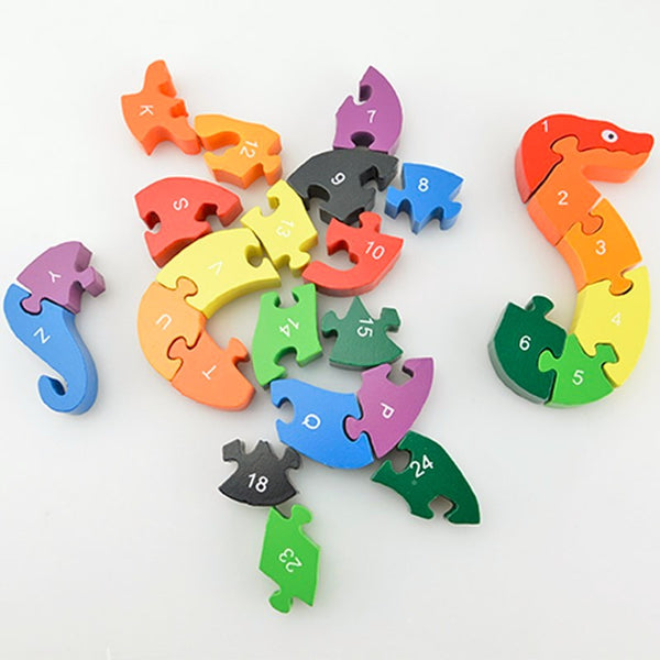 Educational Winding Snake Wooden Brain Game/Puzzle Toy