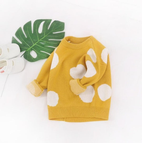 Polka Dot Baby Sweater