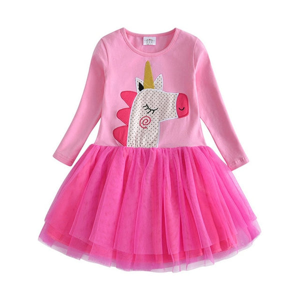 Casual Long Sleeve  Kids Dress