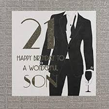 Five Dollar Shake LARGE 21st Wonderful Son Birthday Card