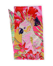 Powder Cockatoo Satin Neck Scarf - Beaumont Limited Edition