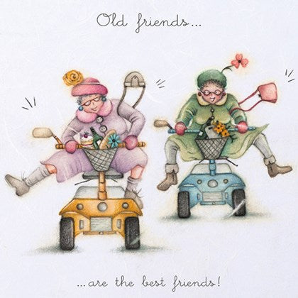Berni Parker Blank Card -Old Friends are the Best Friends