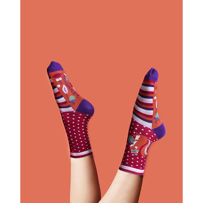 Powder Nutty Squirrel Bamboo Ankle Socks