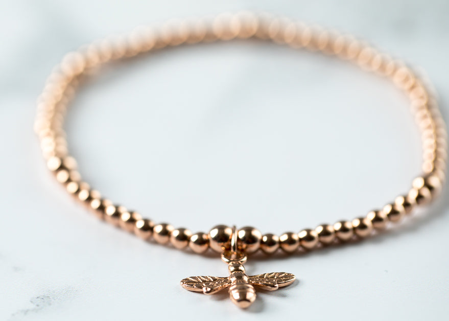 Rose Gold Bee Chloe Bracelet