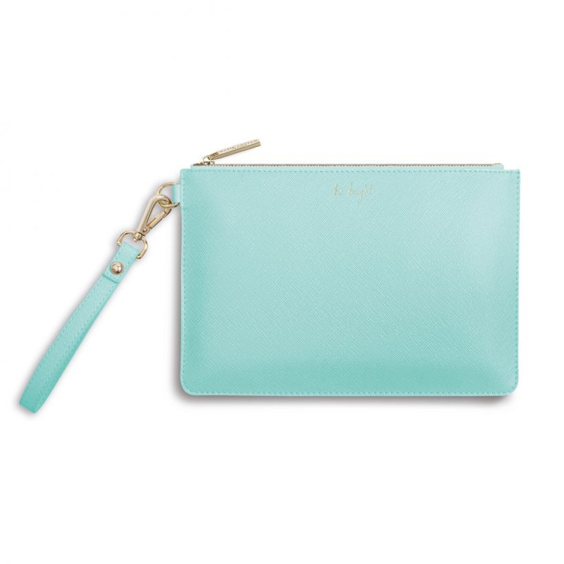 Katie Loxton Secret Message Pouch - Be Bright - Mint