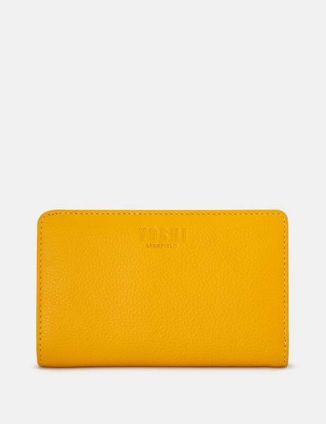 Yoshi Oxford Zip Around Purse - Mustard