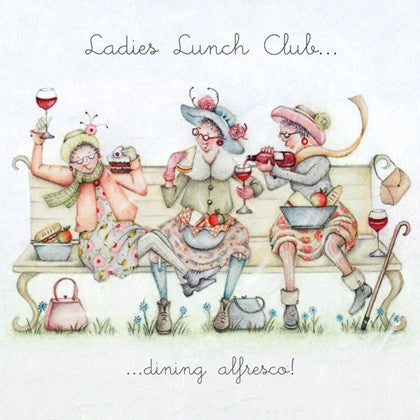 Berni Parker Blank Card - Ladies Lunch Club