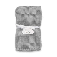 Katie Loxton Chunky Knitted Baby Blanket - Grey