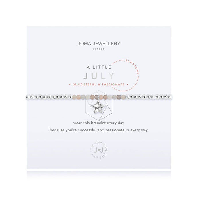 Joma Jewellery A little Birthstone July Sunstone Bracelet