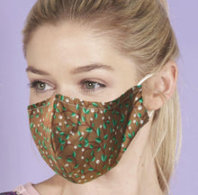 Eco Chic Reusable Face Covering Berry Trail - Brown