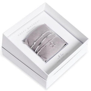 Joma Jewellery Occasion Gift Box Bracelet Set - Happy Birthday