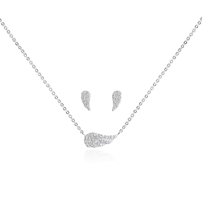 Joma Jewellery Sentiment Necklace & Earrings Set - Guardian Angel