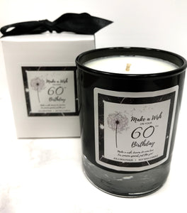 Jolu Boutique Make a Wish Sentiment Candle - 60th Birthday