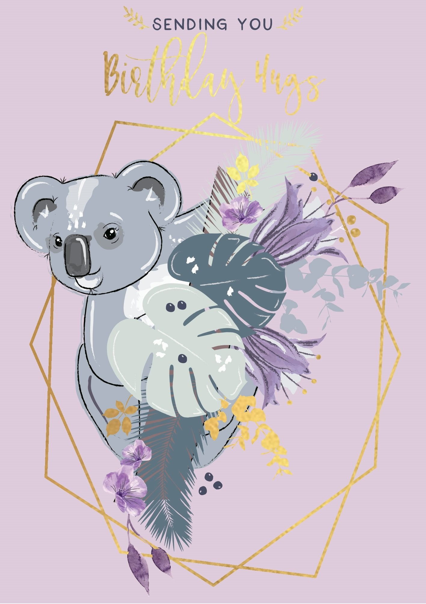 The Handcrafted Card Company Koala Birthday Hugs Card
