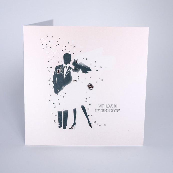 Five Dollar Shake With Love to the Bride & Groom Wedding Card