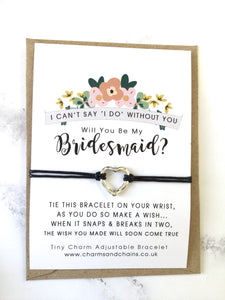Will you be my Bridesmaid? Wish Bracelet