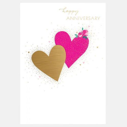 Sara Miller by The Art File - Happy Anniversary Hearts Card