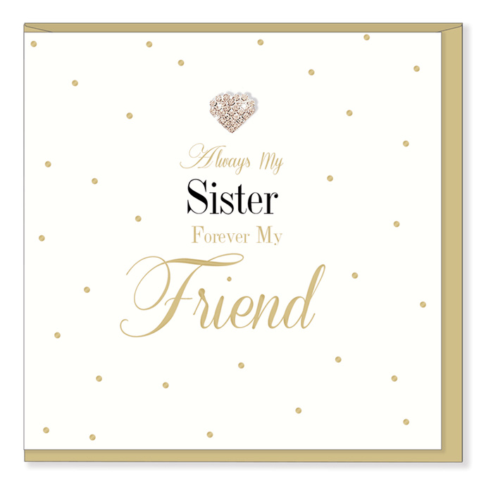 Always my Sister Card | Hearts Designs | Blank