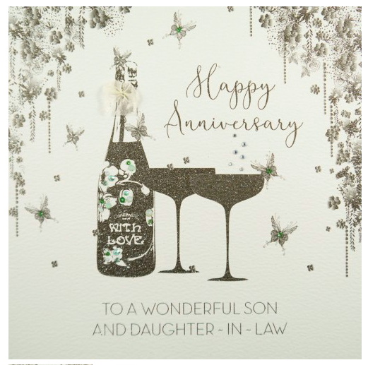 Five Dollar Shake LARGE Son & Daughter-in-law Anniversary Card