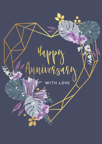 Happy Anniversary, With Love Card
