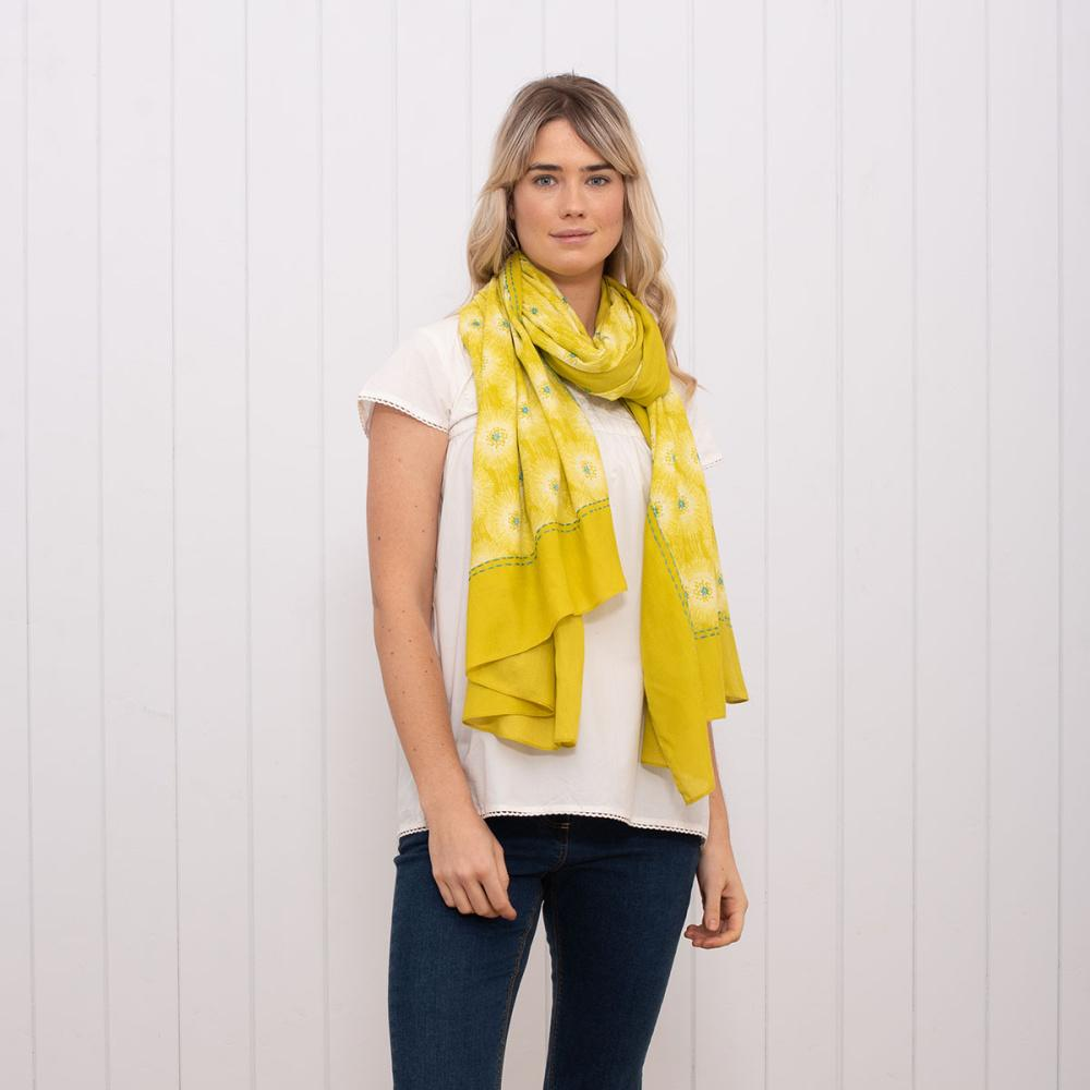 Brakeburn Allium Border Scarf - Yellow