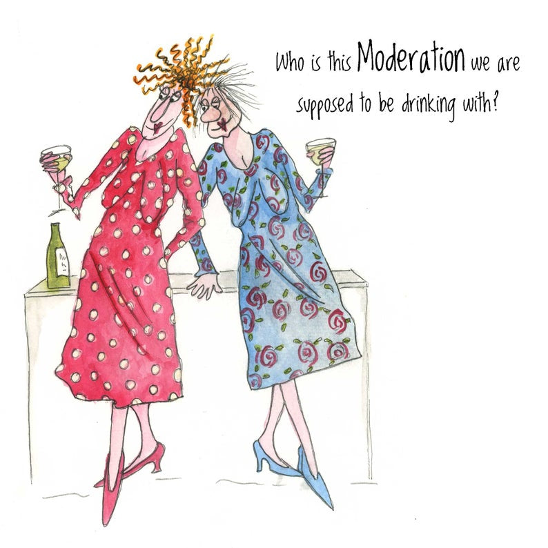 Camilla & Rose Blank Card -Drinking in Moderation