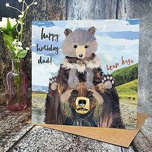 Flying Teaspoon Bear Hugs Dad Birthday Card
