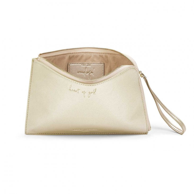 Katie Loxton NEW Secret Message Pouch - Heart of Gold-You are Wonderful -Gold