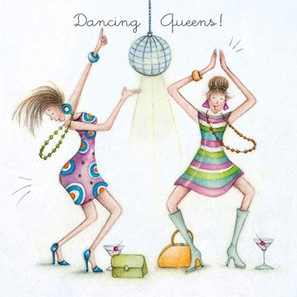 Berni Parker Blank Card - Dancing Queens