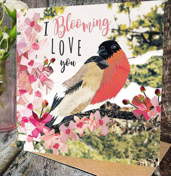 Flying Teaspoon I Blooming Love you Card