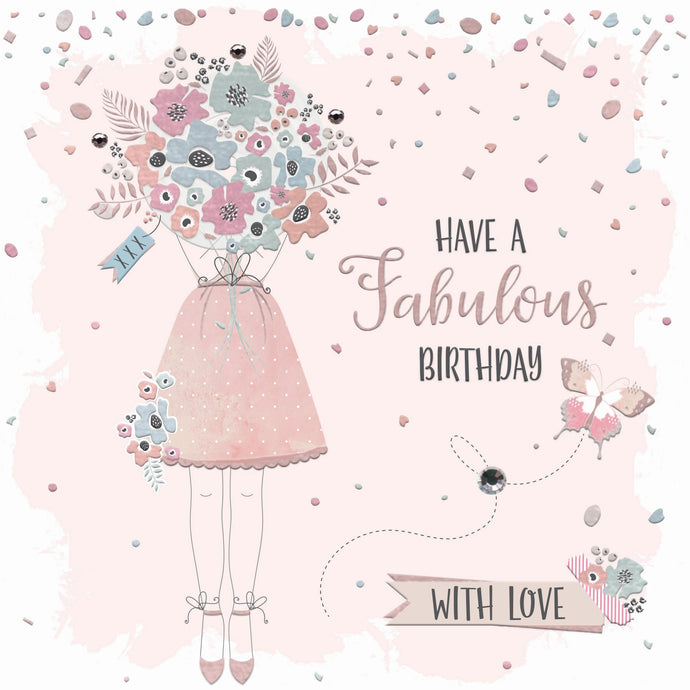 Have a Fabulous Birthday Flowers Card