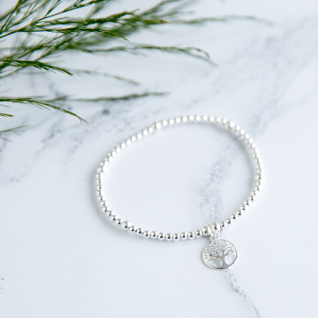 Jolu Jewellery Tree of Life Chloe Sterling Silver Bracelet