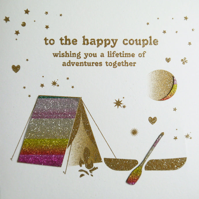 Five Dollar Shake Happy Couple - Lifetime of adventures together Card