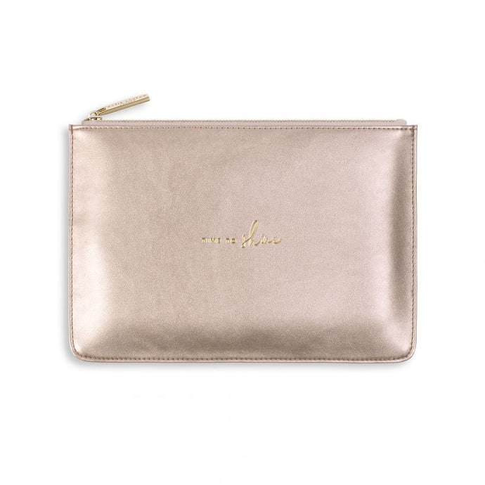 Katie Loxton Shimmer Pouch - Time to Shine - Rose Gold