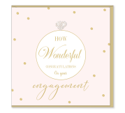 Wonderful Engagement Card | Hearts Designs | Blank