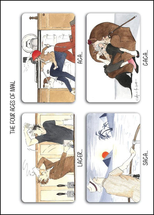 Tottering by Gently - The Four ages of Man Blank Card
