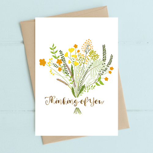 Dandelion Stationery - Thinking Of You Floral Bouquet Card