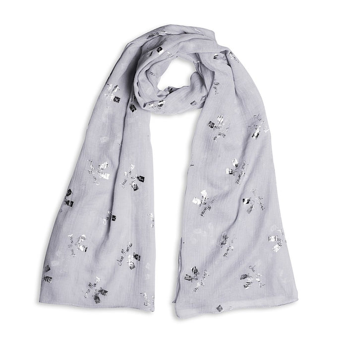 Katie Loxton Just Married Foil Scarf