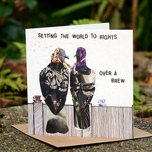 Flying Teaspoon Setting the World to Rights Blank Card