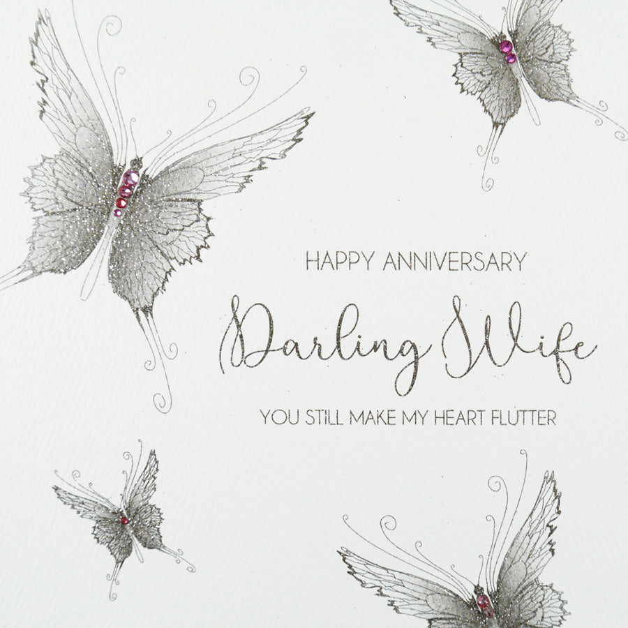 Five Dollar Shake Darling Wife Butterfly Anniversary Card
