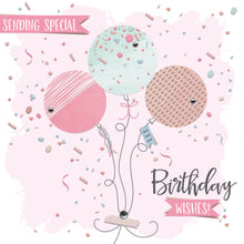 The Handcrafted Card Company Sending Special Birthday Wishes Balloon Card