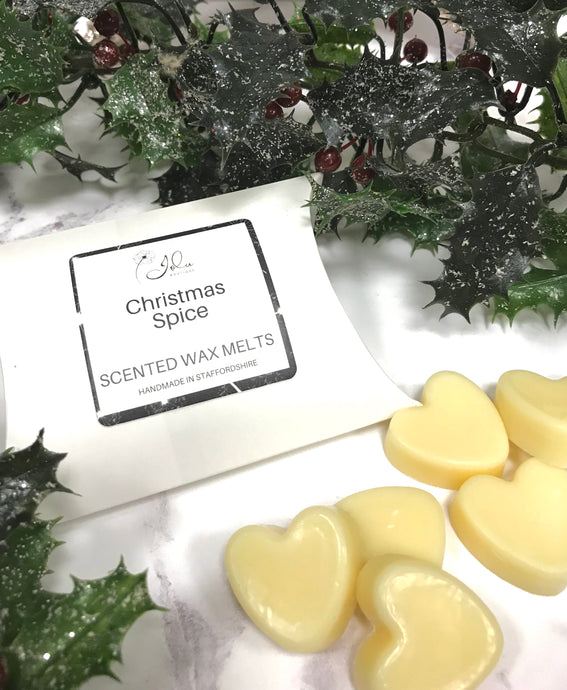 Jolu Boutique Christmas Spice Soy Wax Melts - Pack 6 Hearts