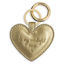 Katie Loxton Wonderful Mum Gold Padded Keyring