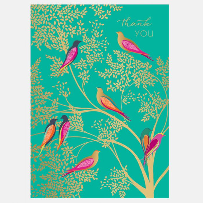 Sara Miller by The Art File - Thank you Birds Card