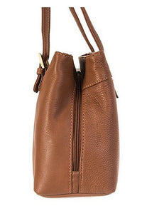 Nova Leathers Triple Section Shoulder Handbag - Chestnut Tan (816)